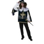 Карнавальный костюм Мушкетер синий. В комплекте: плащ,парик,шляпа. ..
