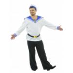 Костюм Матрос для взрослых.                   В комплект входит рубашка с воротником-гюйсом и имитац..