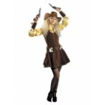 Карнавальный костюм Ковбойка.                       В комплекте:платье, нарукавники, бандана, шляпа,..