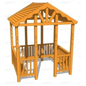 Беседка узорная деревянная