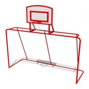 Футбольные ворота с баскетбольным щитом