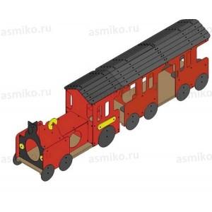 Красная стрела паровоз + вагон