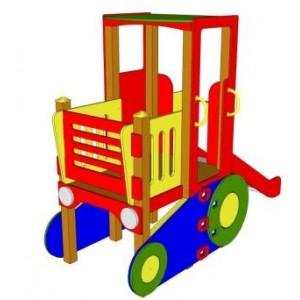 Трактор с горкой