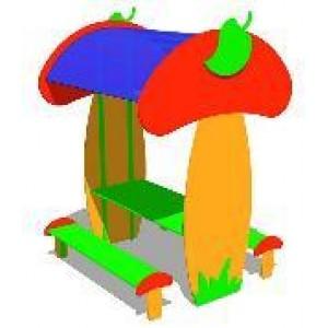 Стол со скамьями «Грибок»