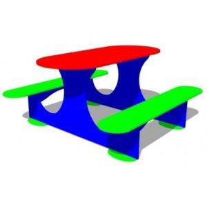 Стол со скамьей фанерный