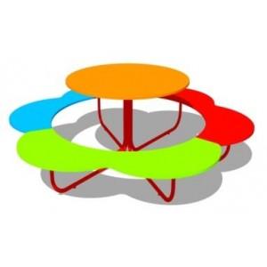 Стол со скамьями «Ромашка»