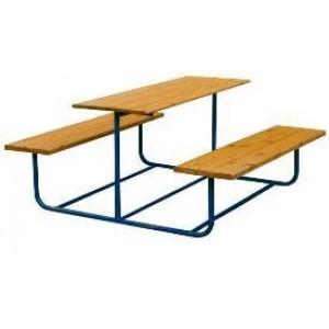 Столик со скамьями металл
