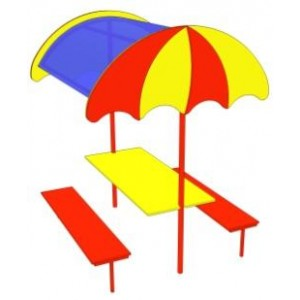 Стол со скамьей Зонтик