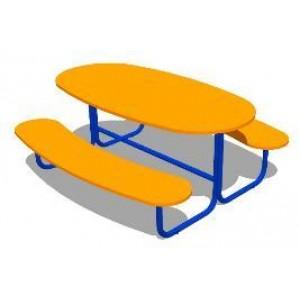 Стол со скамьей Дуга