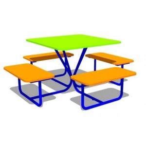 Стол со скамьями «Квадрат»