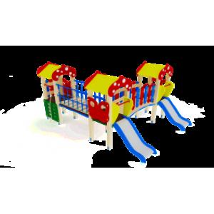 Детский игровой комплекс                         Полянка Горка 750                                           3230х4490х3000
