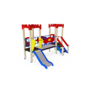 Детский игровой комплекс                           Королевство Горка 900                                           3100х2130х2730