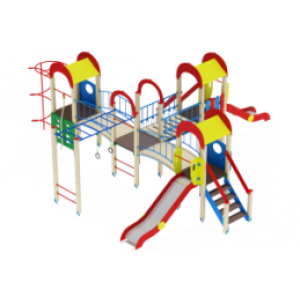 Детский игровой комплекс                           Дворик детства  Горка 1200                                           8240х8470х3000
