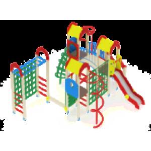 Детский игровой комплекс                           Городок Горка 1200                                           7110х5780х3000