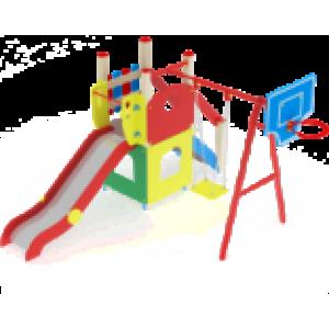 Детский игровой комплекс                           Счастливое детство Горка 1200                                           4360х3780х2900