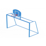 Ворота с баскетбольным щитом                                           3000х1200х3600..