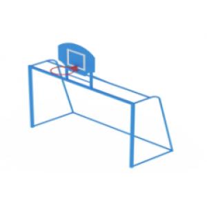 Ворота с баскетбольным щитом                                           3000х1200х3600