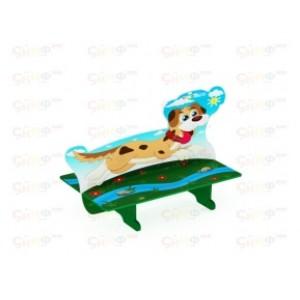 Скамейка для детской площадки Пёс