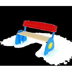Скамья Солнышко со спинкой                                           1200х600х900
