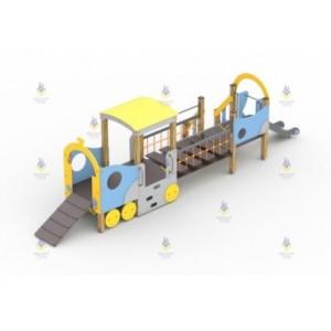 Игровой комплекс  «Паровозик с вагончиком и горкой»