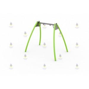 Качели металлические рама тип-2 (зеленые)