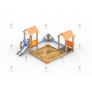 Песочный дворик с горкой