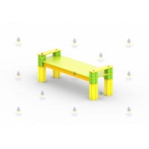 Скамья из кубиков