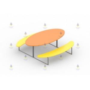 Стол со скамьями «Луна»