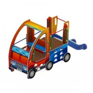 Машинка с горкой 4 горка Н 750 3450*2020*1800
