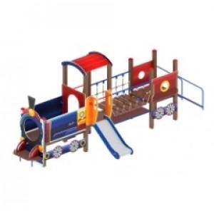 Детский игровой комплекс                           Паровозик Горка 750                                           6750х1230х2550