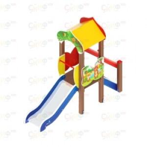 Детский игровой комплекс                           Полянка Горка 750                                           950х2880х3000