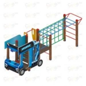 Детский игровой комплекс                           Грузовичок Горка 750                                           5230х2670х1800