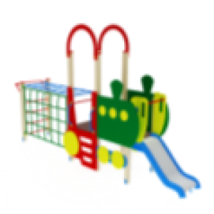 Детский игровой комплекс                           Паровозик Горка 750                                           5750х2020х3000