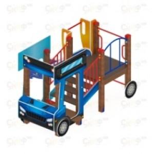 Детский игровой комплекс                           Грузовичок Горка 750                                           2650х2670х1800