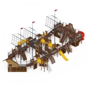 Детский игровой комплекс «Баркентина» 23662*13360*9500