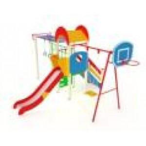 Детский игровой комплекс                           Счастливое детство Горка 1200   6180х4200х3000