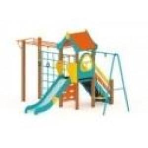 Детский игровой комплекс Теремок Горка 1200 5350х4200х3000