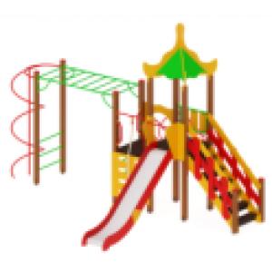 Детский игровой комплекс Азия        Горка 1500       6250х5520х4200