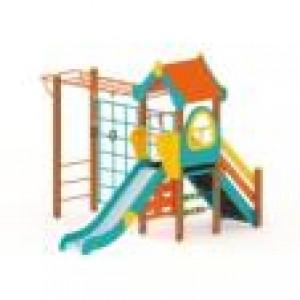 Детский игровой комплекс Теремок Горка 1200 4250х3540х3000