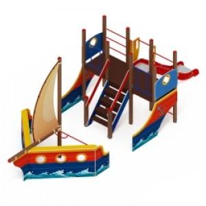 Детский игровой комплекс                           Парусник Горка 1200                                           8200х2900х3500