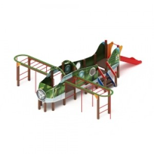 Аэроплан горка Н 900 (пластик) 8220х6180х2100