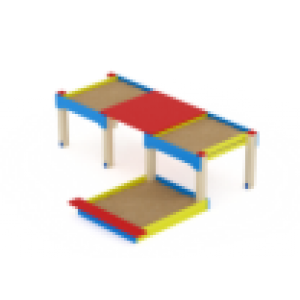 Песочница Забота тройная комбинированная                                           2240х2730х1020