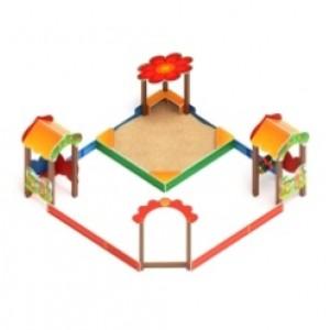 Песочный дворик полянка                                           4000х3970х2250