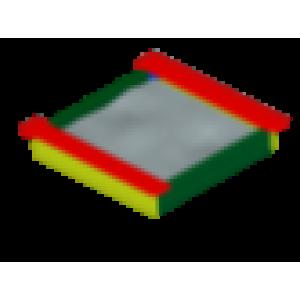 Песочница Забава  (цвета в ассортименте)                                        1860х1930х220