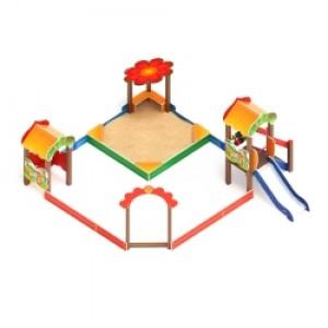 Песочный дворик полянка с горкой                                           4060х4030х2720