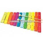 Ксилофон 12 тонов цветной деревянный..