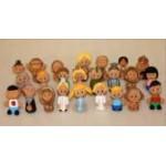 Набор глиняных человечков для сказкотерапии и песочной терапии (в наборе 24 человечка)..