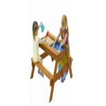 Стол большой для игр с песком и водой со скамейками (один отсек для песка, другой для песка и воды)..