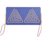 Лабиринт симметричный двойной для подготовки к письму - Треугольники..