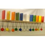 Тактильно-развивающая панель Разноцветное домино 720х100х120 ..